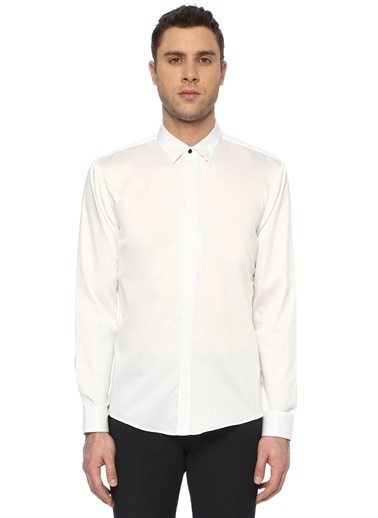 Que Smokin Gömlek Beyaz